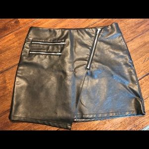 SEXY H&M faux leather mini skirt
